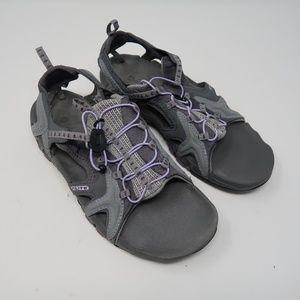 Womens Hi Tec Gray Sandals Size 8